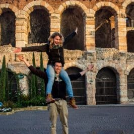 Hitchhiking in Italy - Verona - Journal of Nomads