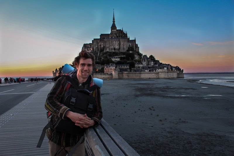 Hitchhiking in France - Mont St Michel - Journal of Nomads