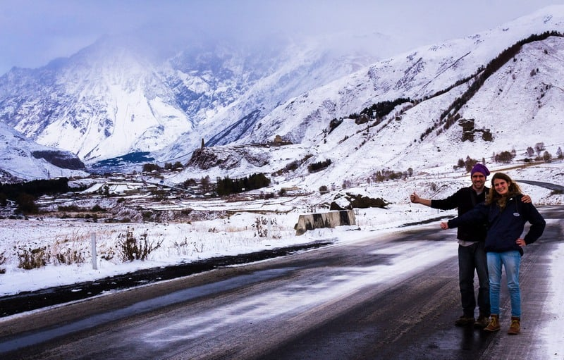 Hitchhiking in winter - Journal of Nomads