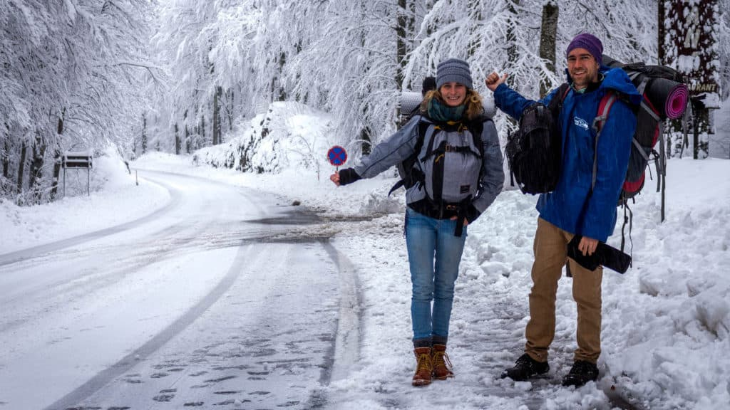 How to prepare yourself for hitchhiking and camping in winter
