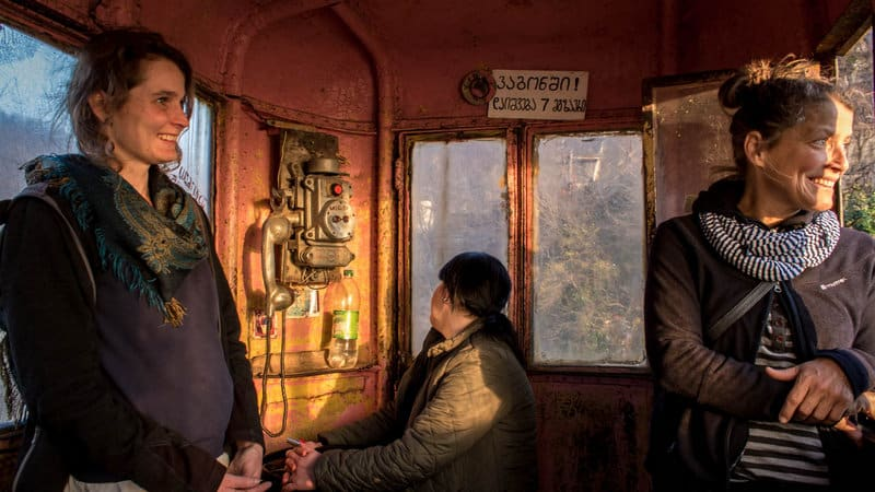 Visiting ghosts of a distant past in Chiatura, the Cable Car City of Georgia - Journal of Nomads - inside the cable car