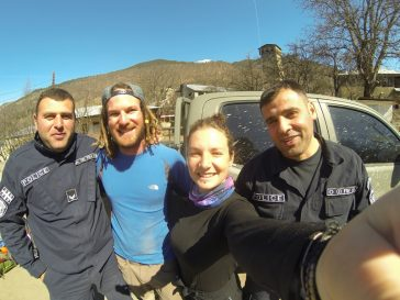 Friendly police encounters while hitchhiking in Georgia - TaylorBF - Journal of Nomads