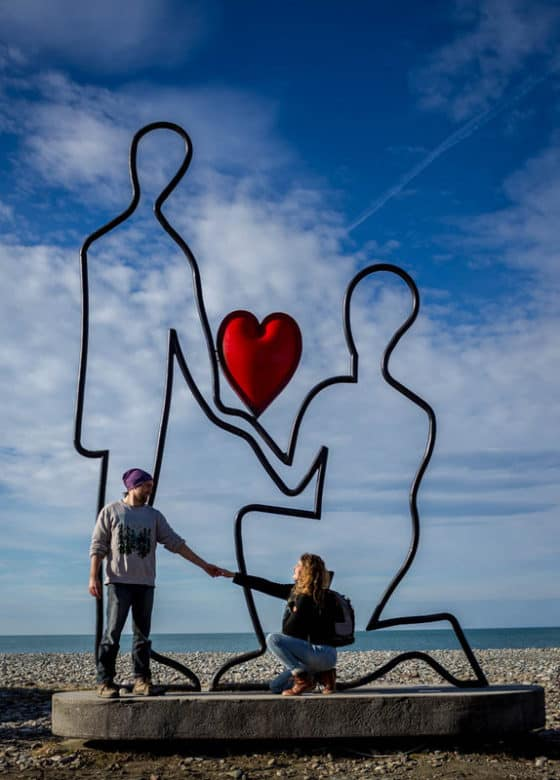 Batumi - Journal of Nomads - Love sculpture