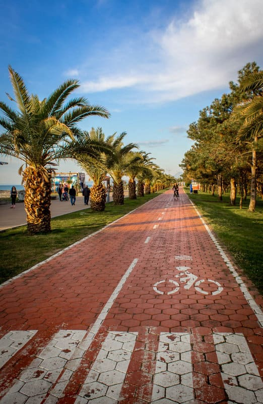 Batumi - Journal of Nomads - cycling path - Boulevard