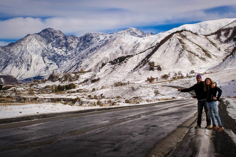 Hitchhiking in Georgia - Kazbegi - Journal of Nomads