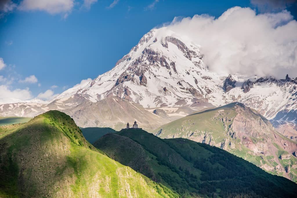 Amazing places to visit in Georgia - Journal of Nomads - Kazbegi - Trinity Church