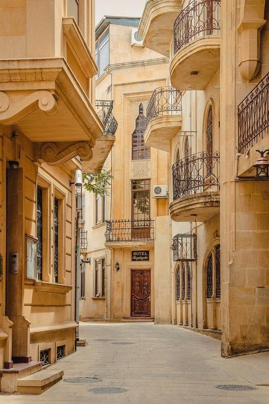 small streets Baku Azerbaijan - Journal of Nomads