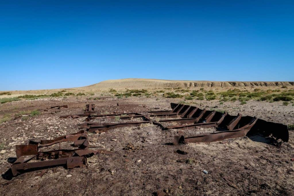 What happened to the Aral Sea? Visiting the ship graveyard of Aral and Zhalanash - Journal of Nomads- ship graveyard Zhalanash Kazakhstan