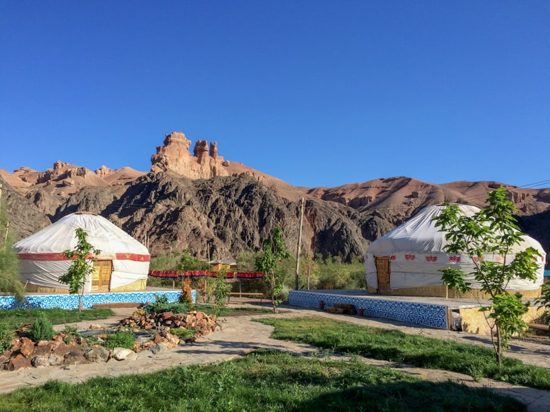 Charyn Canyon - Eco Village in Charyn Canyon - Yurds -Banana Journeys