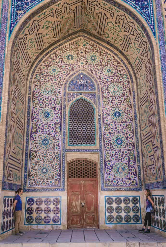 Turkestan Kazakhstan Khoza Ahmed Yasawi Mausoleum tiled mosaic