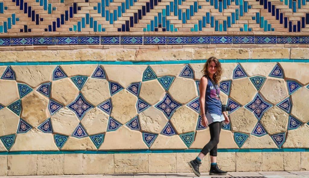 Turkestan Kazakhstan Khoza Ahmed Yasawi Mausoleum mosaic tiles art