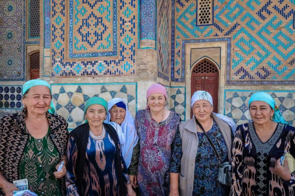 Elderly ladies in Kazakhstan are delighted to meet foreigners…