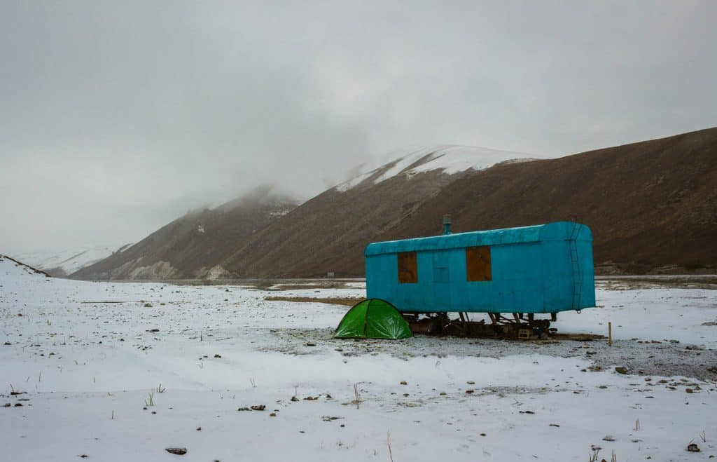 Hitchhiking in Kyrgyzstan, camping in the mountains in Kyrgyzstan, Journal of Nomads