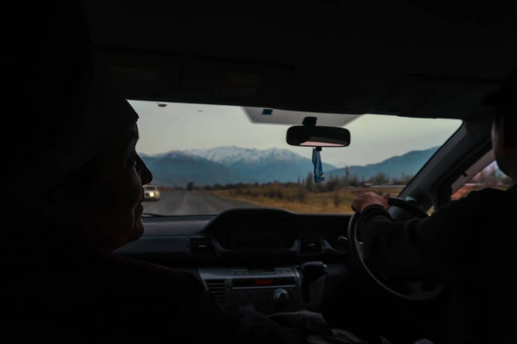 Our first ride - - Hitchhiking in Kyrgyzstan - Journal of Nomads