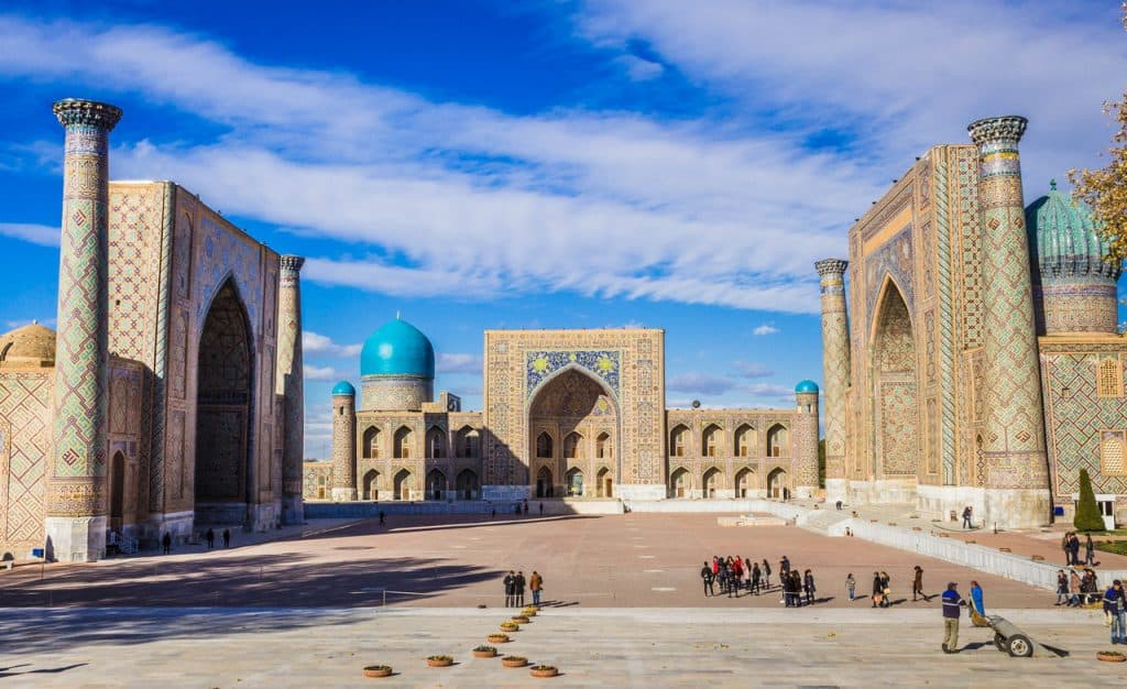 Best Cities to visit in Uzbekistan -Backpacking Uzbekistan - Everything you need to know - Samarkand - Registan - Journal of Nomads