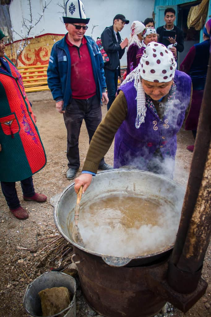 Sumalak - food on Nowruz - Celebrating Nowruz in Kyrgyzstan - Journal of Nomads