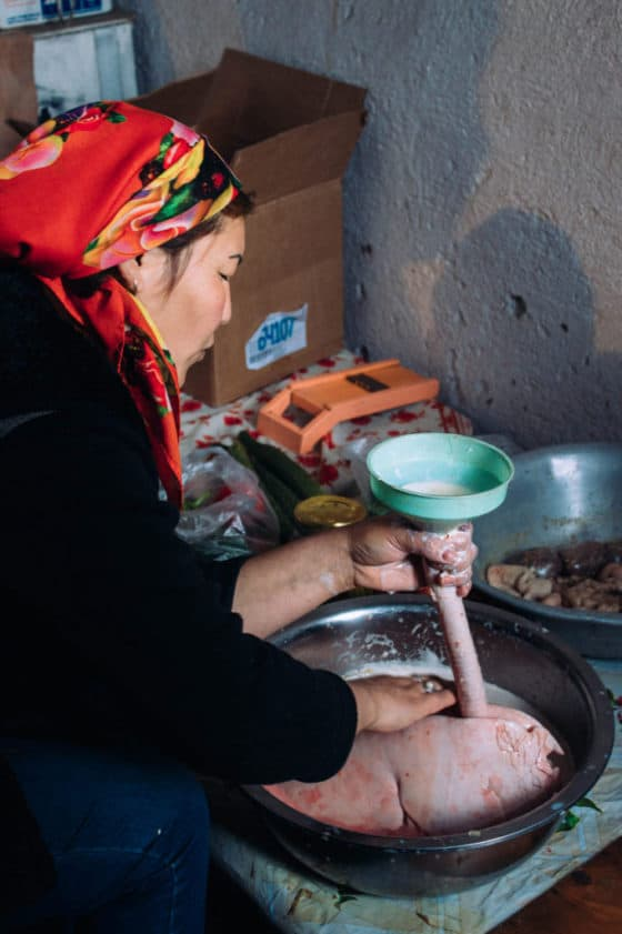 Olovo - marinated sheep lungs in Kyrgyzstan - traditional Kyrgyz dish - Journal of Nomads
