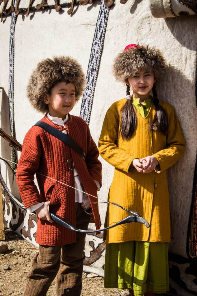 Kyrgyz children in traditional Kyrgyz clothes - Celebrating Nowruz in Kyrgyzstan - Journal of Nomads
