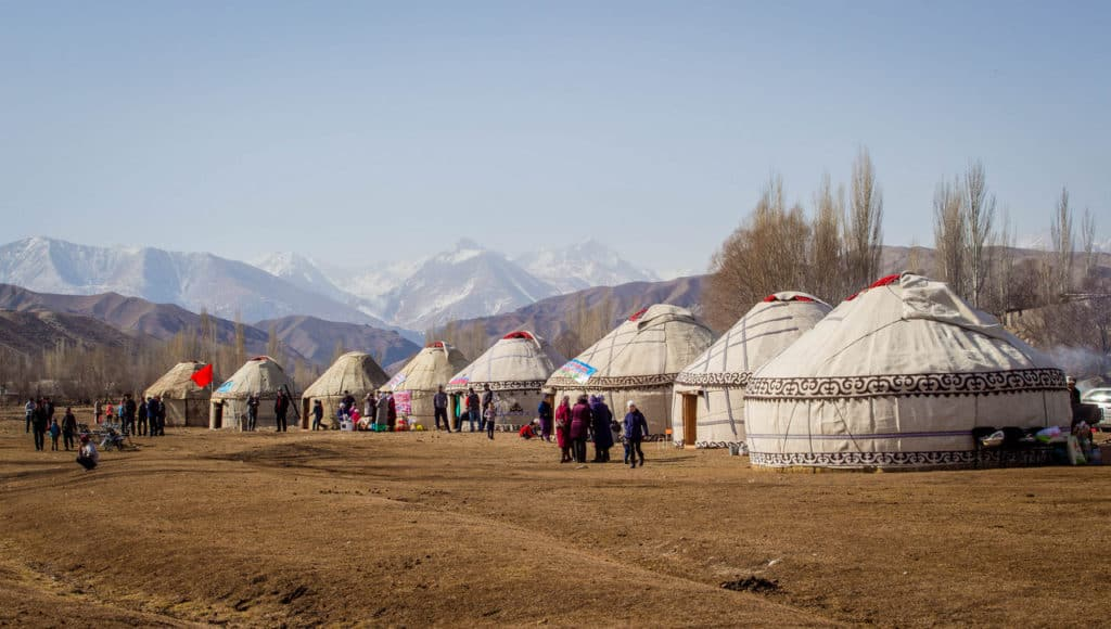 Yurt village - National Games Festival in Kyrgyzstan - Nowruz in Kyrgyzstan - Journal of Nomads