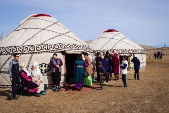 Yurt village - National Games Festival in Kyrgyzstan - Nowruz in Kyrgyzstan - Journal of Nomads