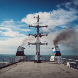Traveling from Azerbaijan to Kazakhstan across the Caspian Sea by cargo ship