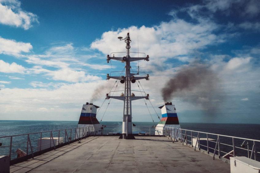 Traveling from Azerbaijan to Kazakhstan across the Caspian Sea by cargo ship