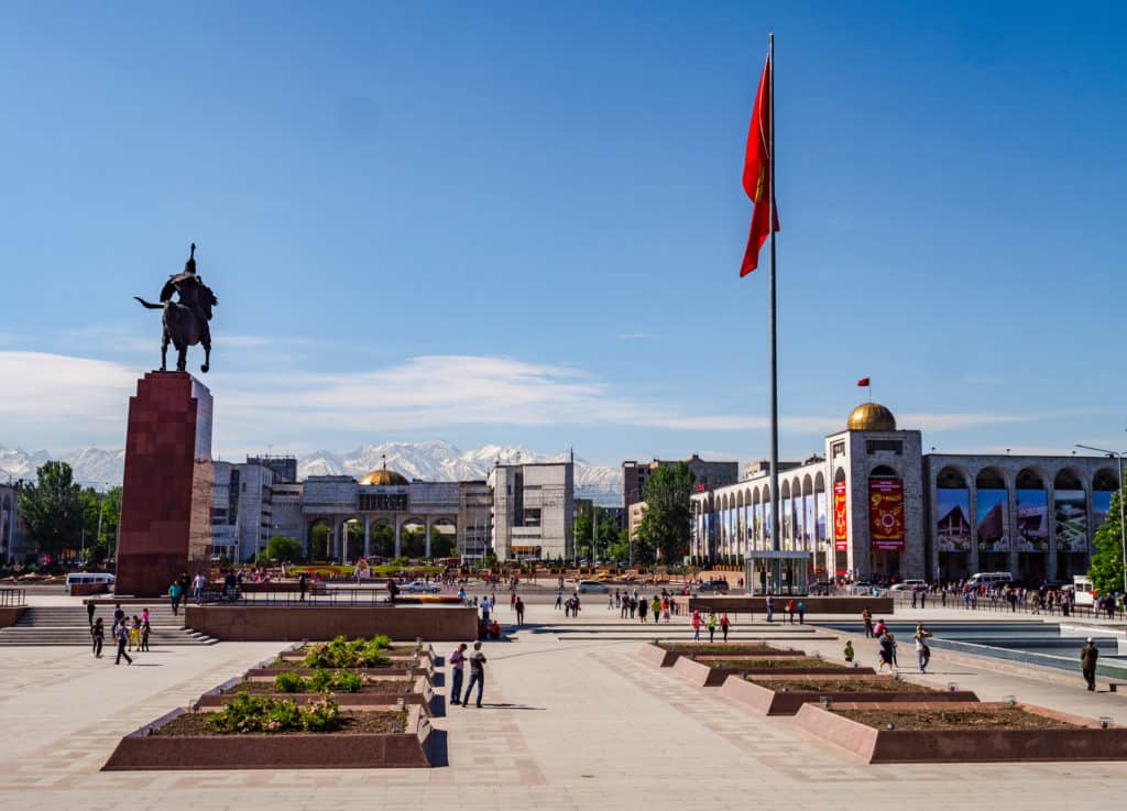 Ala-too square in Bishkek - squares of Bishkek - capital of Kyrgyzstan - Journal of nomads