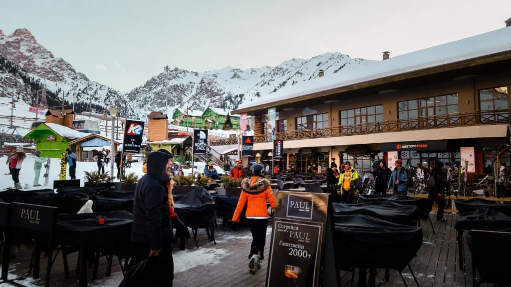 Restaurants and bars at Shymbulak ski resort Almaty - skiing in Almaty - Journal of Nomads