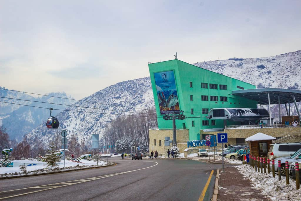 A Beginner's Guide to Skiing in Shymbulak, Almaty - Kazakhstan - Journal of Nomads - Cable car station to Shymbulak
