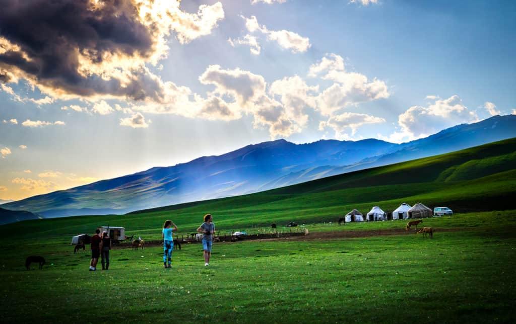 Adventure Trek Kyrgyzstan - yurt camp