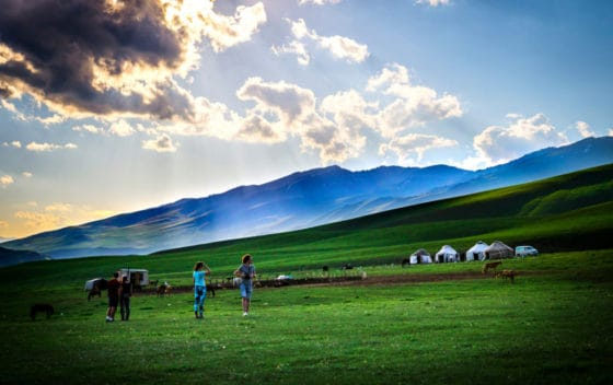 Adventure Trek Kyrgyzstan - yurt camp