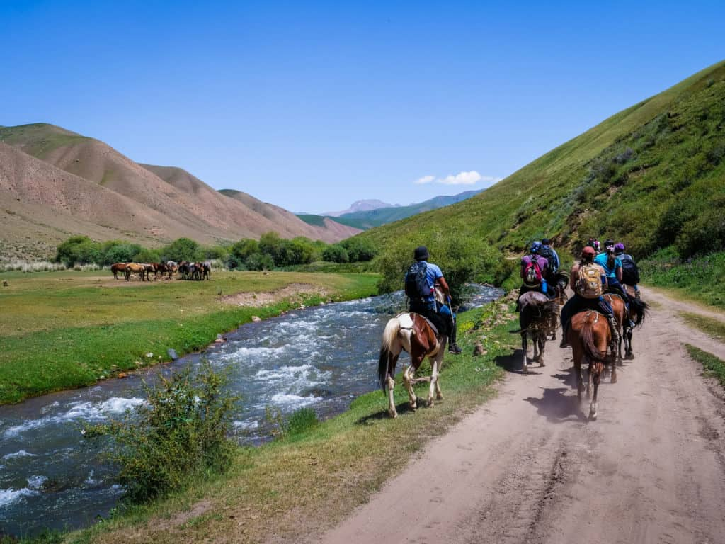Adventure Trekking in Kyrgyzstan July 2019 - horseback trek in Kyrgyzstan