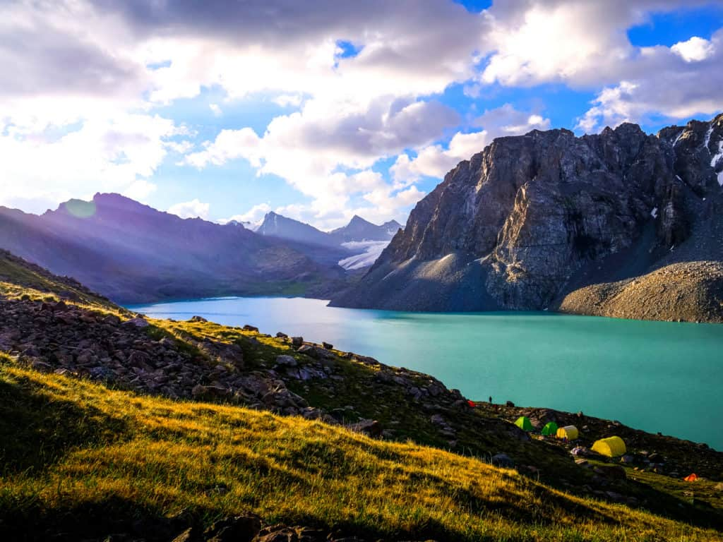 Adventure Trekking in Kyrgyzstan July 2019 - hiking to Ala Kul Lake