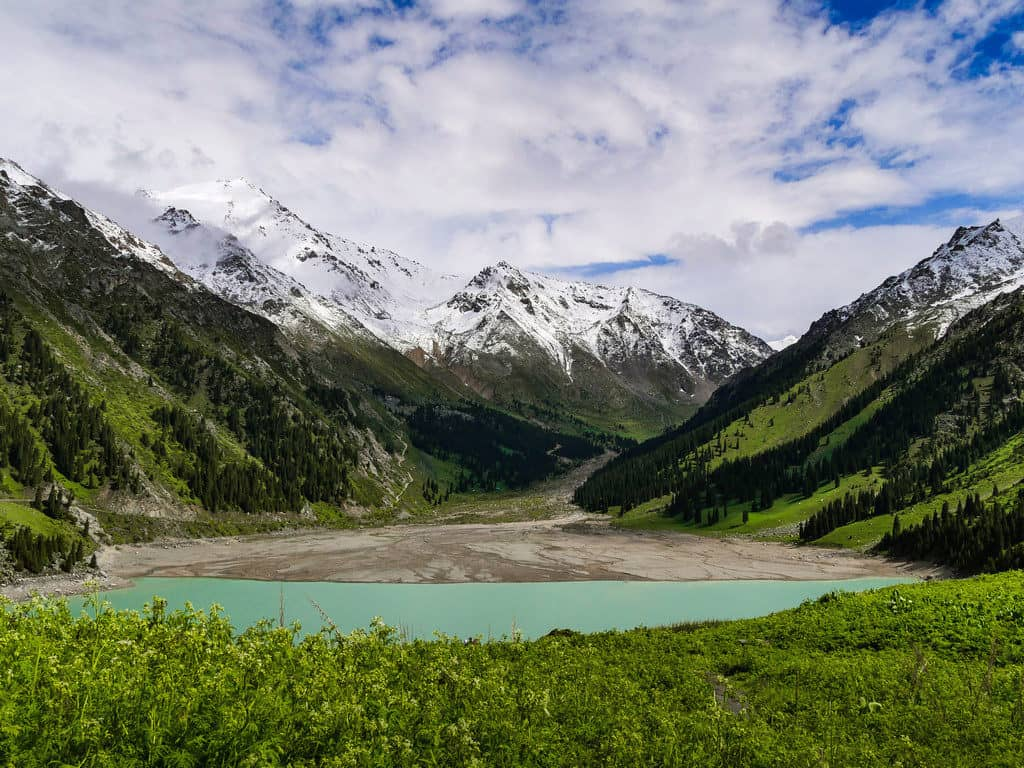 Hiking in Kazakhstan - Big Almaty Lake in Kazakhtan