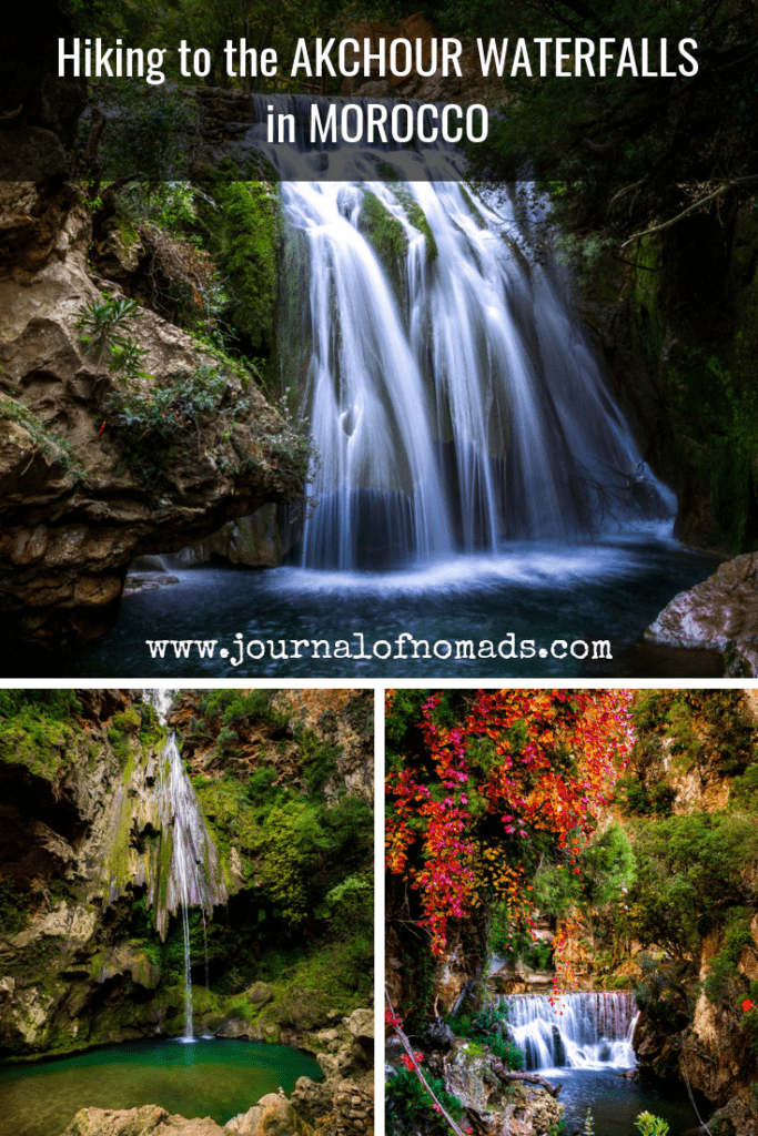 How to get to the Akchour Waterfalls from Chefchaouen - Rif Mountains - Morocco - hiking trail to the Akchour Waterfalls -cascades at Akchour - Journal of Nomads