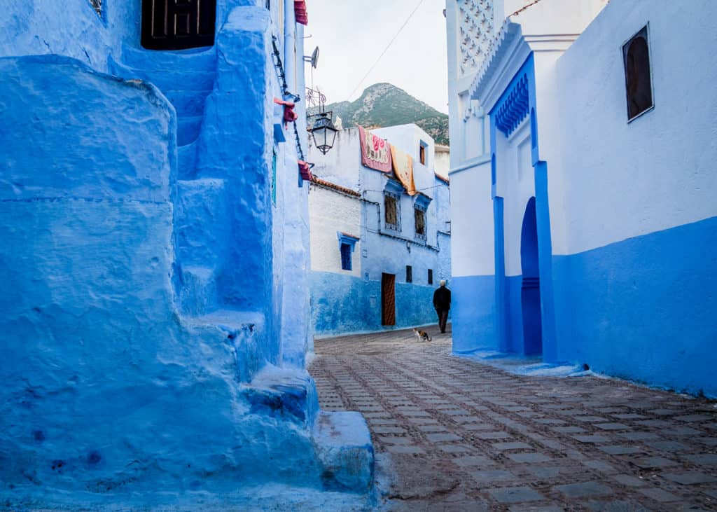 How to get to the Akchour Waterfalls from Chefchaouen - Streets of Chefchaouen - Marocco - Journal of Nomads
