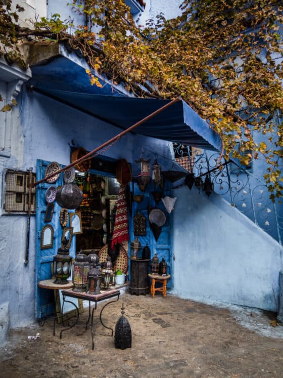 Things to do in and around Chefchaouen, the Blue City of Morocco - streets of Chefchaouen - bazaar in Chefchaouen - souk of Chefchaouen - shops in the old center -Journal of Nomads