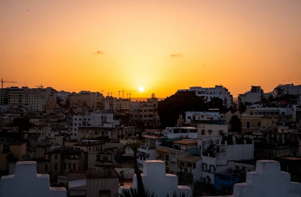 How to renew your travel visa for Morocco - sunset in Tangier - Journal of Nomads