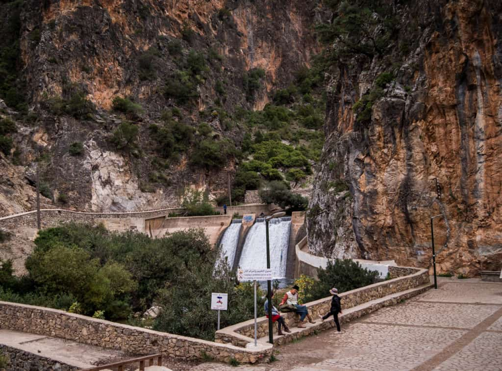 How to get to the Akchour Waterfalls from Chefchaouen - Rif Mountains - Morocco - hydro-electrical dam - hiking trail to the Akchour Waterfalls - Journal of Nomads