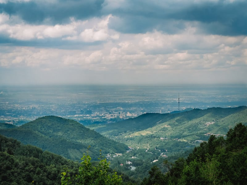 Hiking in Almaty mountains - Panoramic view of Almaty - Journal of Nomads