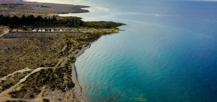 What are the best drones for travel - Lake Issyk Kul Kyrgyzstan - Journal of Nomads