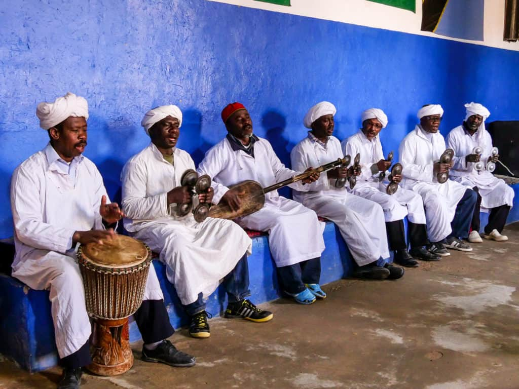 Gnawa Musicians in Merzouga - things to do in Merzouga - Sahara desert - Morocco - Journal of Nomads