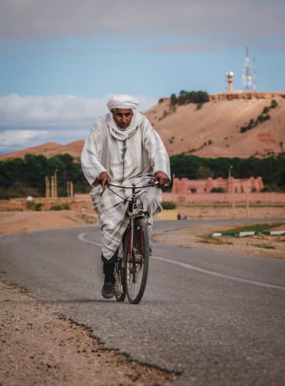 My favorite travel photos of 2018 - Journal of Nomads - people of Morocco - cycling