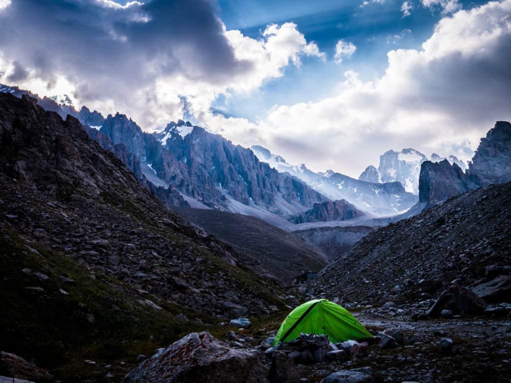 My favorite travel photos of 2018 - Journal of Nomads - Camping Ratsek Hut - camping at Ala Archa - Kyrgyzstan
