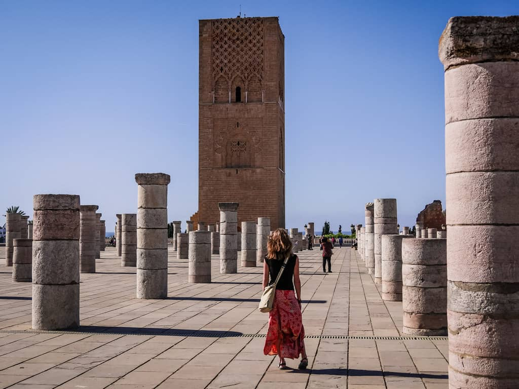 walking near Hassan Tower - journal of nomads