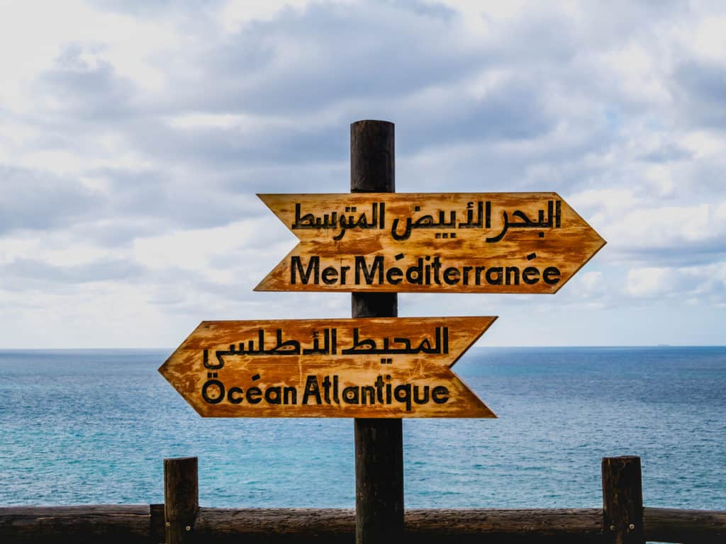 Cap Spartel Tangier - meeting point of Atlantic Ocean and Mediterranean Sea - Journal of Nomads