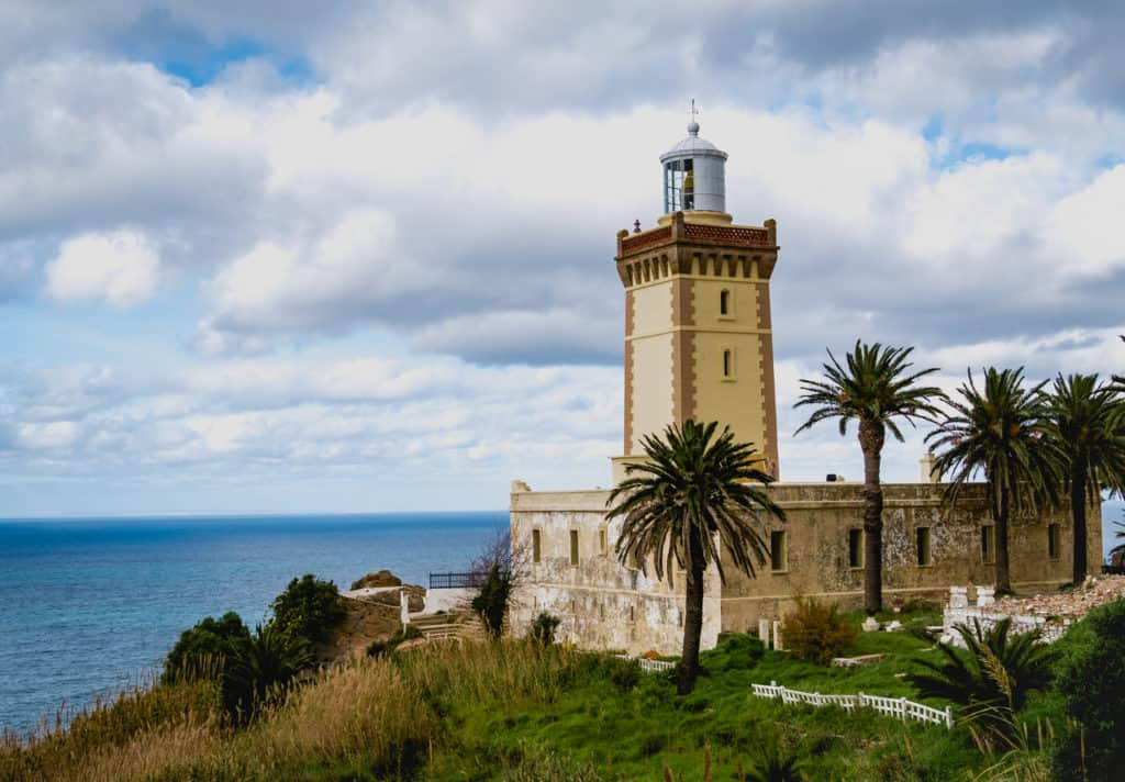 Light House near Cap Spartel Tangier - meeting point of Atlantic Ocean and Mediterranean Sea - Journal of Nomads