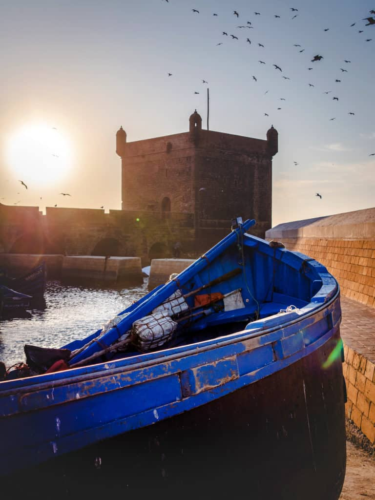 The fortress tower of Bastion Nord - Things to see and do in Essaouira – The complete guide to Morocco's windy city - Essouira port - Journal of Nomads