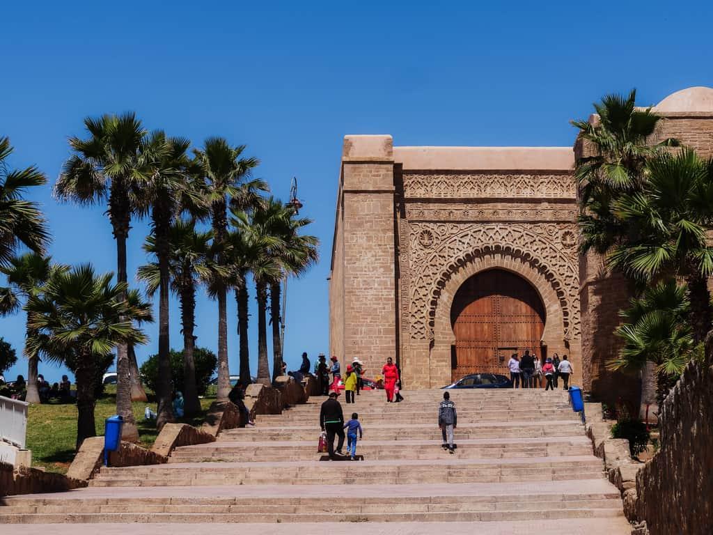 gates of kasbah des oudaias Rabat- journal of nomads