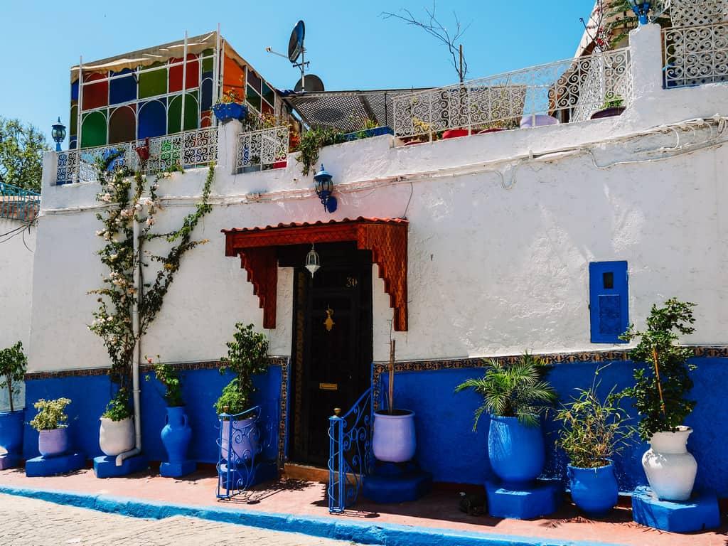 blue walls - kasbah des oudaias Rabat - journal of nomads